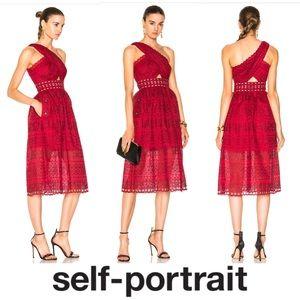 One Shoulder Cut-Out Midi Dress